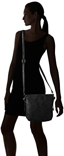 Fritzi aus Preußen Ira - Bolso de hombro Mujer Schwarz (Black-Be)