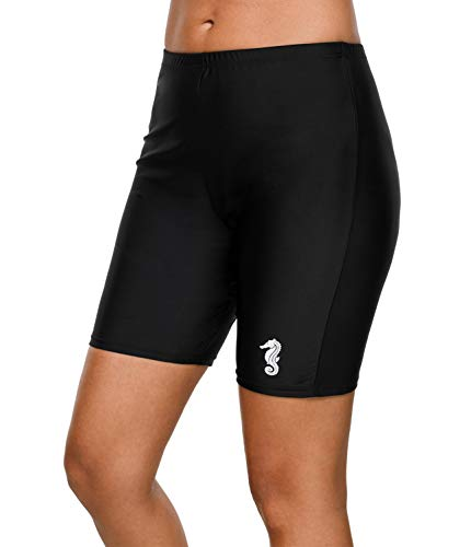 V FOR CITY Boyshort Swim Bottoms for Womens Training Swim Bottoms Workout Boardshort M ()