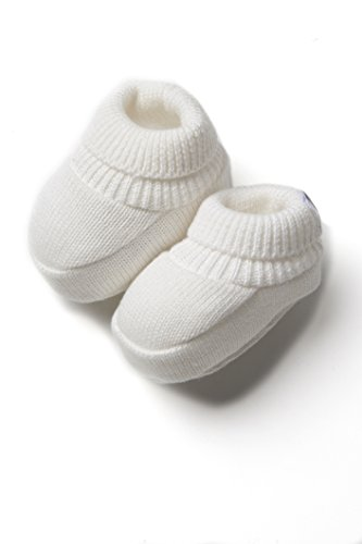 Patucos de Punto 100% algodón para Bebé Color Beige - Minutus