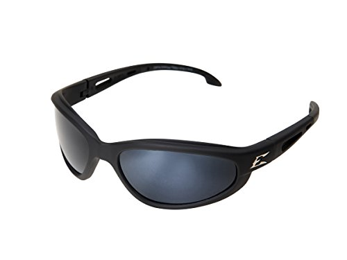 Edge Eyewear TSM21-G15-7 Dakura Polarized Safety Glasses, Black with G-15 Mirror Lens (Mirror G15 Lens Silver)