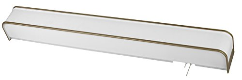 AFX Lighting SHB325ACE8-LA White Linen Pattern Acrylic Overbed Light Fixture with Champagne Finish Accents
