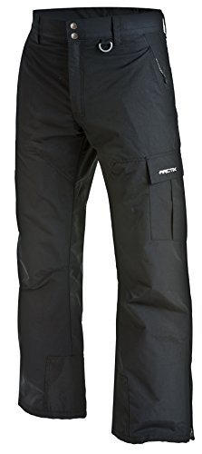 Arctix Women's Men's Mountain Snowboard Shell Cargo Pant, Black, Medium (32-34W 32L) (Mens Cargo Shell Pants)
