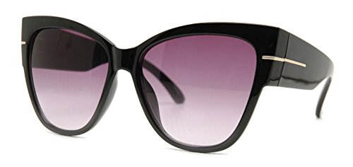AStyles - Super Oversized Cat Eye Thick Frame Designer Gradient Sunglasses - Sunglasses Oversized Cat Eye