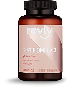 Amazon Brand - Revly Super Omega-3, Wild-caught Fish Oil, 90 Softgels, 45 Day Supply