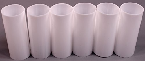 creative hobbies set of 6 3 inch tall white plastic candle covers sleeves chandelier socket covers standard medium base