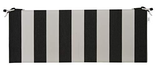 RSH Décor Indoor/Outdoor Bench Cushion Made from Premium Sunbrella Cabana Classic Stripe Fabric - 2