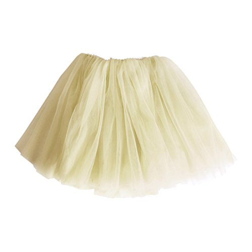 Andux Land Kid Girl Baby Tutu Gauze Princess Tulle Ballet Skirt Party Dancing Dress SS-BSQ01(Yellow,H120cm)