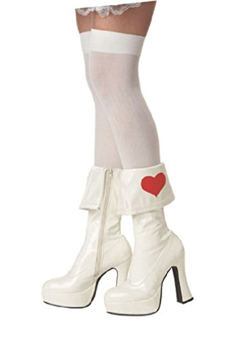 Fancy Alice in Wonderland Boots Queen of Heart Costume Shoe Footwear Rebel Toon (Rebel Toons)
