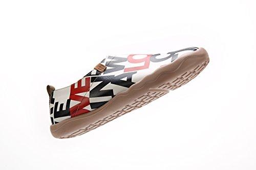 UIN Mens Love Cinema Comfort Microfiber Walkiing Shoes White y0f8DZ