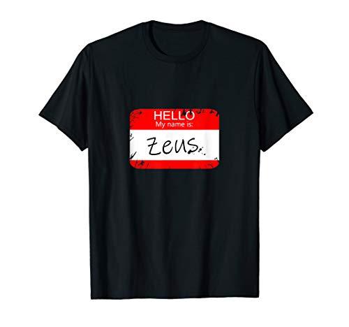 Hello My name is Zeus Funny Halloween Greek Gods Tshirt]()