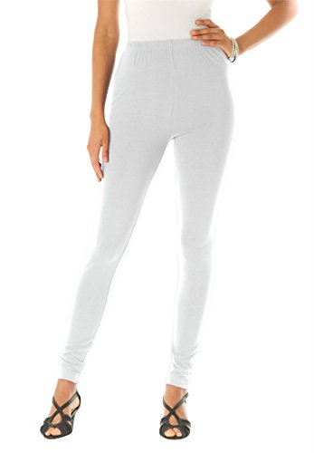 Roamans Women's Plus Size Essential Stretch Knit Ankle Length Leggings