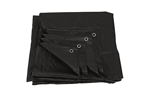(Juvale Waterproof Multipurpose 210D Oxford Fabric Tarp Dry Covering for Camping, Outdoor Events, Emergency Situations or Acting Prop, Black - (79.25 x 76.5 inches))
