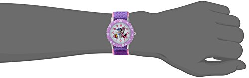 DISNEY Girl's Minnie Mouse' Quartz Plastic and Nylon Casual Watch, Color:Pink (Model: WDS000165) by Disney (Image #1)