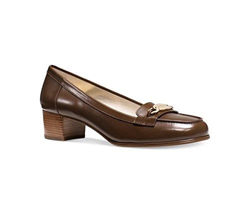 Michael Kors Womens Lainey Leather Closed Toe Mary Jane, Dark Caramel, Size 6.0