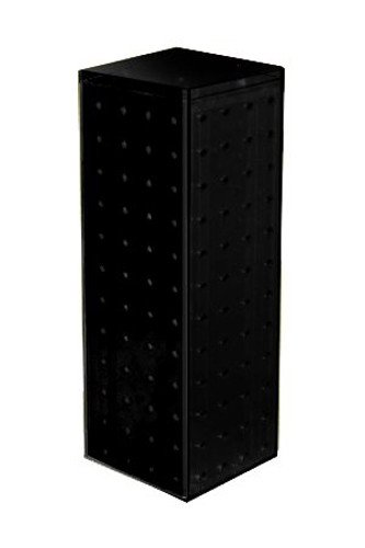 New Black Pegboard Display Interlocking Counter Unit 4'' x 4'' x 13''on 9'' Dia Base by Pegboard Display