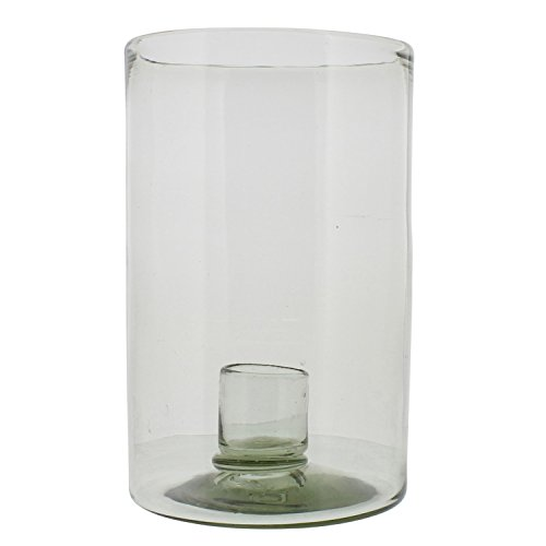 MY SWANKY HOME Recycled Glass Large Candle Hurricane | Pillar Cup Holder