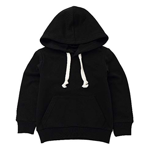 16T Kids Boys Girls Hooded Pullover Sweatshirt Casual Simple Letter Sequin T Shirts Sports Hoodie Tops Pockets