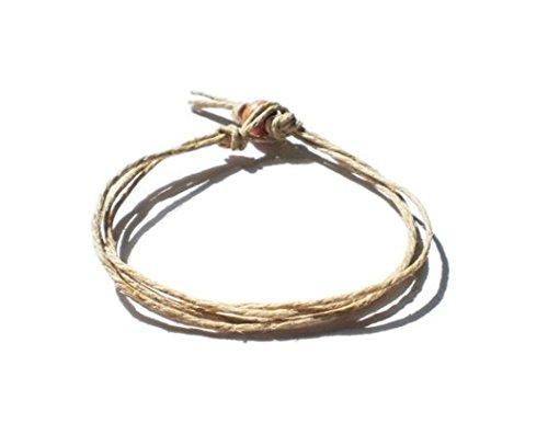 Mens-Womens-Natural-Surfer-Hawaiian-Style-Four-String-Hemp-Bracelet-Handmade