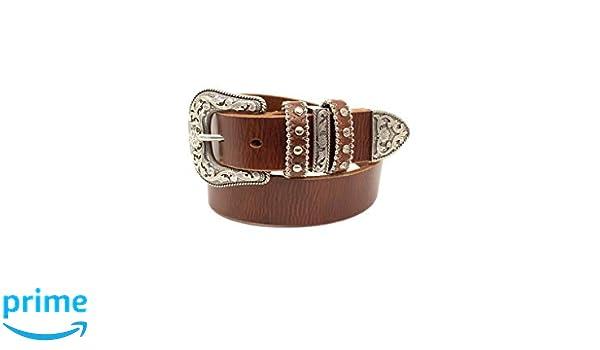 M/&F Western Girls Nocona Triple Loops Belt Brown 24 Little Kids//Big Kids