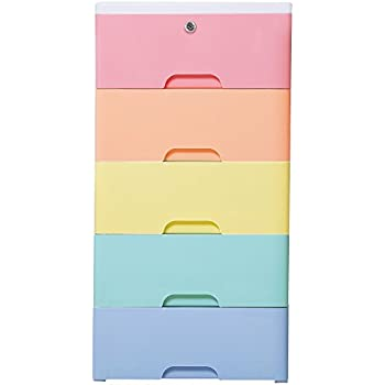 Merveilleux Nafenai Colorful 5 Drawer Storage Cart With Lock, Great For Girlsu0027room And  Kids