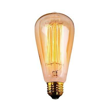 どのように-白熱レトロエジソン電球 @ 6本 60W E26 ST64 温白色 2200 K レトロ風 調光可能 装飾用 白熱ビンテージエジソン電球 AC 110130V V,110V B07DG2TTMY