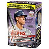 #9: Topps Baseball 2017 Update Series Blaster Box (10 Packs Plus One MVP Award Relic Card)
