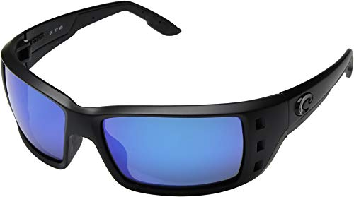 Costa Del Mar Permit 580G Permit, Blackout Blue Mirror, Blue Mirror