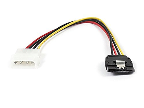 (Monoprice 108799 SATA 8-Inch 15-Pin Female with Latch to Molex 4-Pin Male Power Adapter)