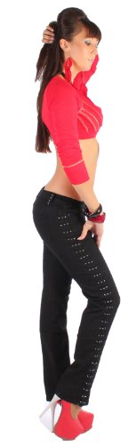 sui Donna Nero taglio dritto S foreverde 44 in pantaloncini jeans 36 XXL Nero SHrHxn7dw