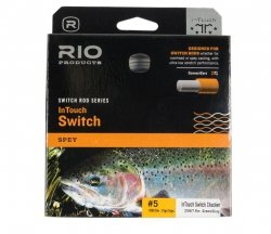 - RIO Products Fly Line Intouch Switch Chucker #8, Gray-Orange-Green
