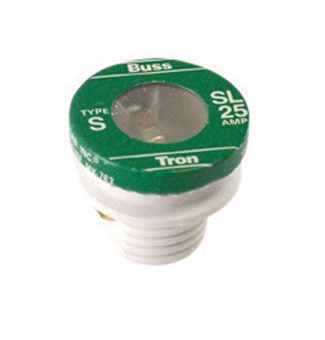 Bussmann BP/SL-25 25 Amp Time Delay Loaded Link Rejection Base Plug Fuse, 125V UL Listed Carded, 3-Pack 414374