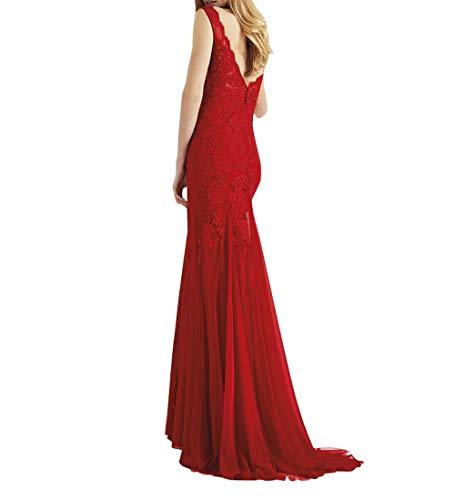 Blau Elegant Royal Abendkleider Charmant Damen Meerjungfrau Lang Rock Ballkleider Abschlussballkleider figurbetont Promkleider BPfq4fx5