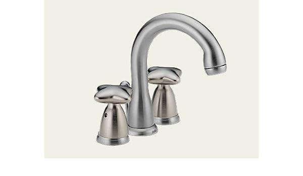 Delta Faucets Closeout 4588 Ssglhp 4 Inch Mini Widespread Bath Fauce