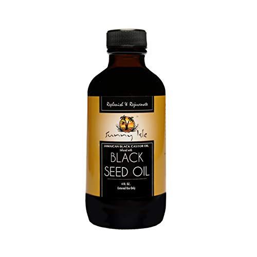 Sunny Isle Jamaican Black Castor Oil Infused With Black Seed Oil, Black, 4 Fluid Ounce