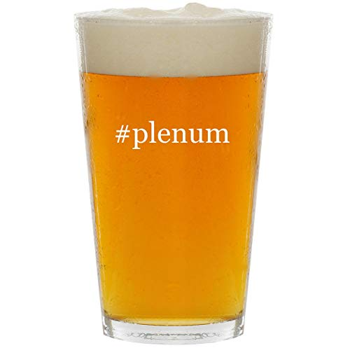 - #plenum - Glass Hashtag 16oz Beer Pint