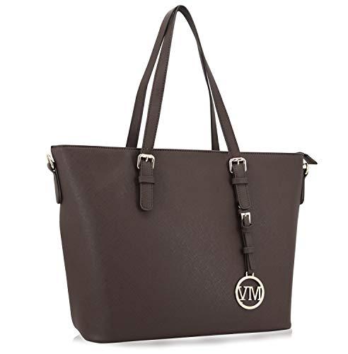 Vanessa Leather Coffee Shopping Shopper Handbag Women Bag PU Melissa Work A4 Study amp; OxqTO6