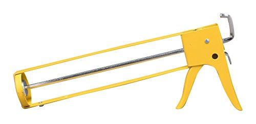 DRIPLESS SH400 29 oz. Yellow Skeleton Hex Rod 14:1 Ratio Caulk Gun, Quart