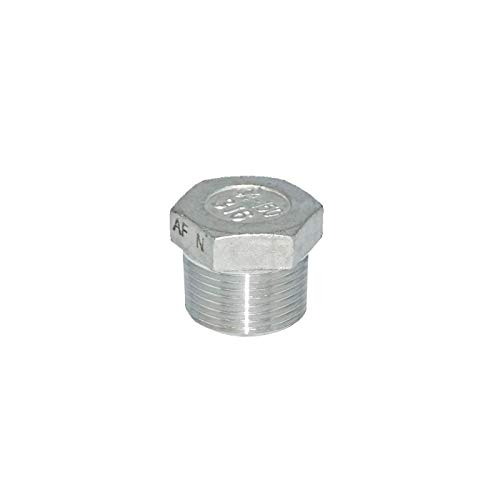 Stainless Steel 316 HEX Plug, Hollow Type Class 150#, 1/4'' NPT Male