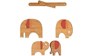 Petit Collage Deluxe Bamboo Mobile, Red Elephant