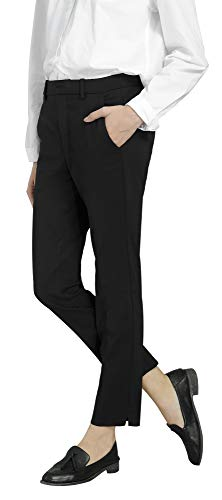 Marycrafts Women's Work Ankle Dress Pants Trousers Slacks ,Medium,Black 2 by Marycrafts (Image #7)