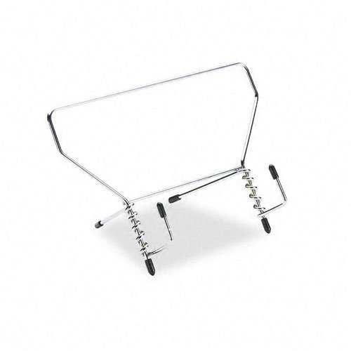 - Fellowes : Wire Study Stand, Metal, 9 1/2 x 6 x 5 1/2, Silver -:- Sold as 2 Packs of - 1 - / - Total of 2 Each