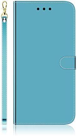 Docrax iPhone 7 Plus/iPhone 8 Plus ケース 手帳型 スタンド機能 財布型 カードポケット マグネット アイフォン7Plus / 8Plus 手帳型ケース レザーケース カバー - DOTXI170029 青
