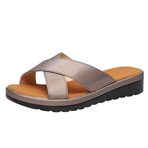 (EDTO Women Comfy Platform Sandal Shoes,Summer Beach Travel Shoes Fashion Sandals Comfortable Ladies Open Toe Shoes)