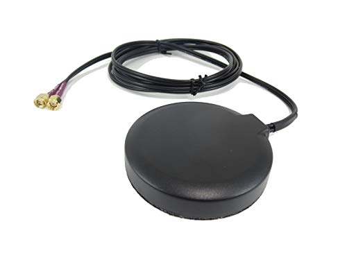Proxicast Ultra Low Profile MIMO 3G / 4G / LTE Omni-Directional 2.5 dBi Puck Magnetic/Adhesive Mount Antenna for Verizon, AT&T, Sprint, and ()