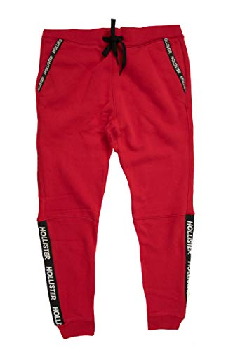 Hollister Men's Sweatpants (Red Skinny Jogger 1218, M) from Hollister