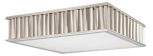 Hudson Valley Lighting Middlebury 3-Light Flush Mount - Polished Nickel Finish with Clear/Frosted Glass Shade ()