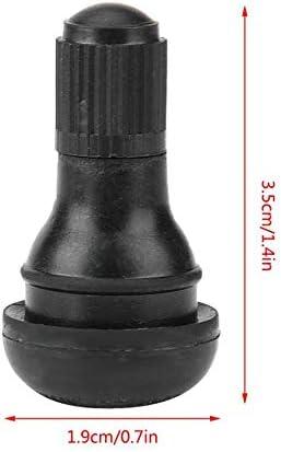 TOOGOO 100 Pi/èCes Tr412 Tige de Valve de Pneu /à D/éClic avec Noyau de Valve pour Alliage en Caoutchouc de Remplacement G/éN/éRal pour Voitures et Motos Tr412
