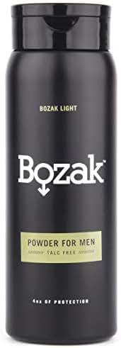 Bozak Light Body Powder for Men - 4 oz. Talc-Free, Absorbs Sweat, Stops Chafing, Keeps Skin Dry - Antifungal, Jock Itch Defense Deodorant
