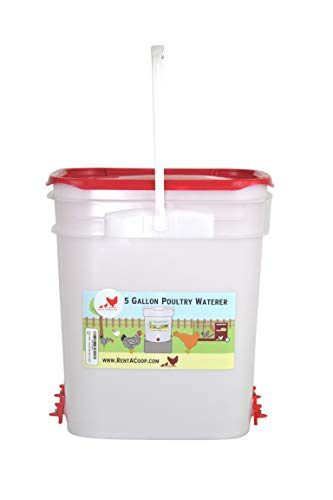 5 Gallon Chicken Waterer - 4 Horizontal Side Mount Poultry N