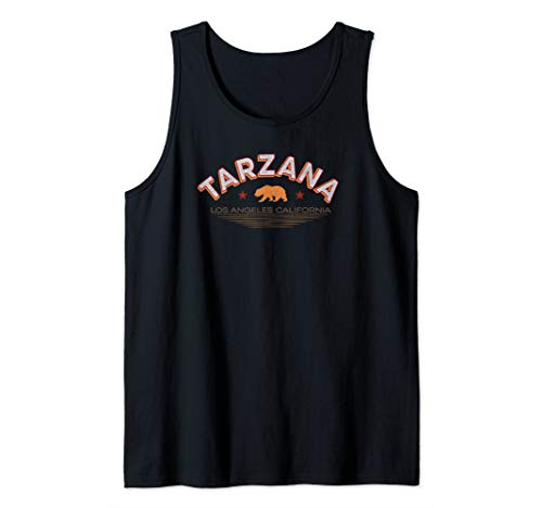 Tarzana Los Angeles Shirt LA Valley Neighborhood Cali Bear Tank Top